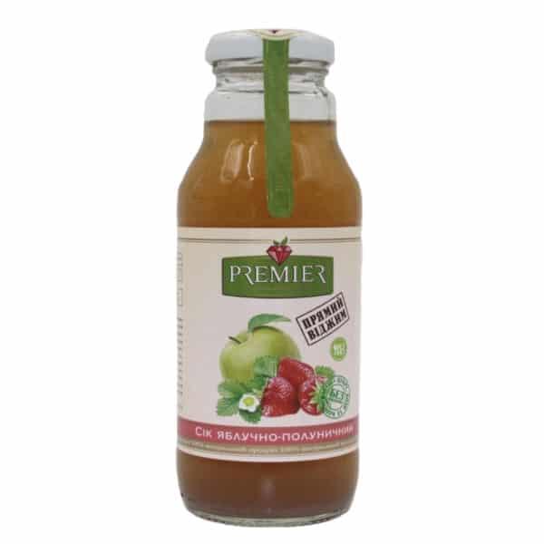 Сок яблочно-клубничный Premier