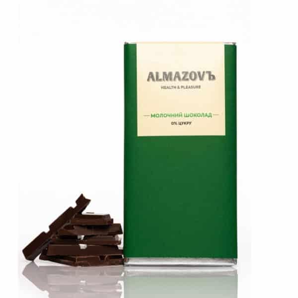 Молочный шоколад, без сахара, Almazovъ